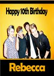 Personalised 5 Seconds of Summer Birthday Card